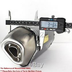1.5-2 Inlet 1-1/4 Rolled Burnt Tip Carbon Look Racing Muffler Exhaust System