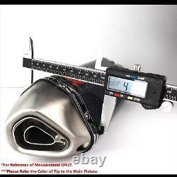 1.5-2 Inlet 1-1/4 Slanted Burnt Tip Carbon Look Racing Muffler Exhaust System