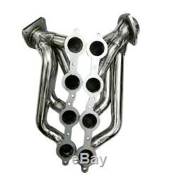 1.75 STAINLESS RACING MANIFOLD SHORTY HEADER For SILVERADO 1500 CHEVY 4.8L 5.3L