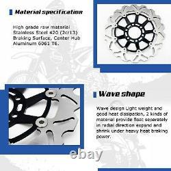 2 Front Wave Brake Rotor Disc for SUZUKI GSXR 1300 Hayabusa GSX1300R 1999 2007