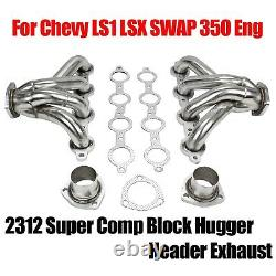 2312 Racing Block Hugger Header Exhaust For Chevy LS1 LSX SWAP 350 Eng Shorty