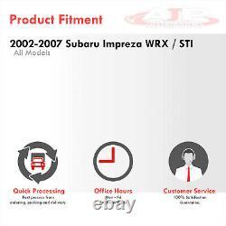 3 S/S JDM Catback Exhaust 4.5 Chrome Tip For 2002-2007 Subaru Impreza WRX STI