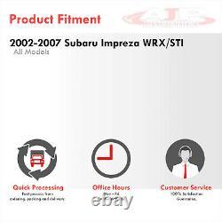 3 SS JDM Catback Exhaust 4.5 Gunmetal Tip For 2002-2007 Subaru Impreza WRX STI