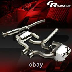 3dual Muffler Tip Racing Cat Back/catback Exhaust System For 02-03 Mini Cooper