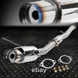 4.5 Burnt Tip Muffler Racing Catback Exhaust For 02-07 Wrx/sti Gd/gg Ej20/ej25