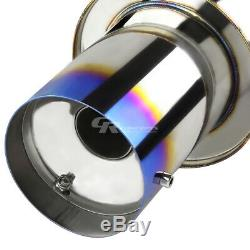 4 MUFFLER BURNT TIP CATBACK RACING EXHAUST SYSTEM FOR 06-11 HONDA CIVIC Si 2.0L