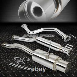 4 Muffler Tip Racing Catback+hi-flow Exhaust Pipe For 01-05 CIVIC Ex Em2 Es2