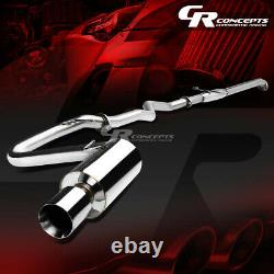 4 ROLLED MUFFLER TIP CATBACK RACING EXHAUST SYSTEM FOR 05-10 SCION tC COUPE 2.4