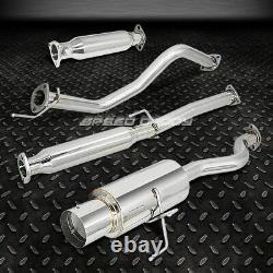 4muffler Tip Racing Catback+hi-flow Exhaust Pipe For 94-01 Integra Dc4 Db7