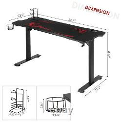 55'' Computer Desk Gaming Table Racing Style Home Office Ergonomic with Mouse Pad