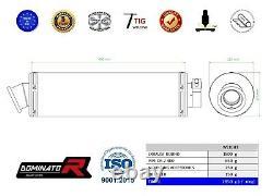 DR-Z 400 S / SM Exhaust ROUND Dominator Racing silencer muffler 2000 2019