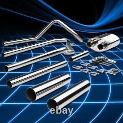 Dual 3.5Muffler Tip Racing Catback Exhaust System for 04-08 Ford F150 4.6/5.4