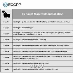 Eccpp Ss Racing Turbo Downpipe Exhaust For 07-13 Mazda 3 2.3 Mazda