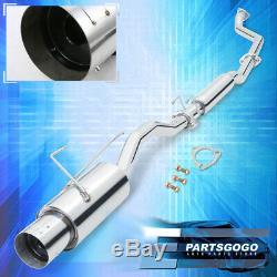 For 01-05 Honda Civic 1.7L Vtec Jdm N1 2.5 Steel Catback Exhaust Muffler System