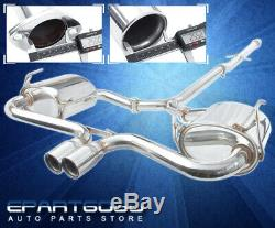 For 02-06 Mini Cooper S R53 Stainless Catback Exhaust System Piping 2.5 Tip