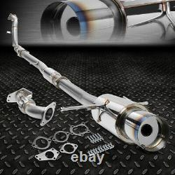 For 02-07 Wrx/sti Gd/gg 4.5 Burnt Tip Racing Turbo Catback+down+up Pipe Exhaust