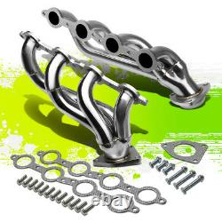For 02-16 Gmc Sierra Left+right Stainless Steel Racing Exhaust Header Manifold