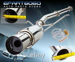 For 03-08 Lancer Evo 8 9 75mm Piping 4.5 Tip 3 Piping Catback Exhaust System