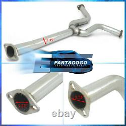 For 04-08 Nissan Maxima Stainless Catback Exhaust 4 Dual Muffler Tip 2.25 Pipe