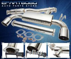 For 08-14 Mitsubishi Lancer Evolution Evo 10 Dual 4 Tip Catback Exhaust System