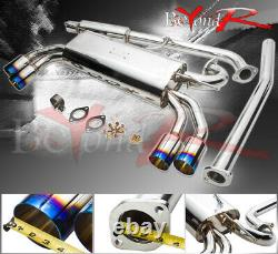 For 09-2014 Hyundai Genesis Coupe 2.0T Burn Tip Jdm Power Catback Exhaust System