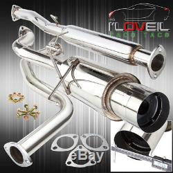 For 1992-2000 Honda Civic 60-65mm T304 Stainless Steel Catback Exhaust System