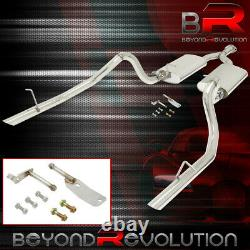 For 1998-2004 Ford Mustang 3.8 V6 Steel Racing Catback Exhaust Pipe with 2.2 Tips