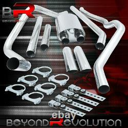 For 2004-2008 Ford F150 4.6 5.4L Racing Cat Back Exhaust System 3.5 Muffler Tip