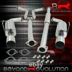 For 2004-2008 Maxima 3.5L V6 Racing Dual Exit Catback Exhaust Muffler 4 Tip Kit