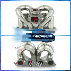 For 88-00 Honda Civic D15 D16 D-Series JDM Stainless Steel Turbo Racing Manifold