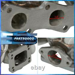 For 89-98 240SX S13 S14 KA24 T3T4 Racing Top Mount Turbo Exhaust Header Manifold