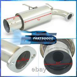 For 90-93 Acura Integra N1 Racing 2.5 Catback Muffler Exhaust System 4.5 Tip