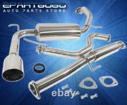 For 90-93 Acura Integra Rs Ls 2.5 JDM Steel Catback Exhaust Muffler System Tip