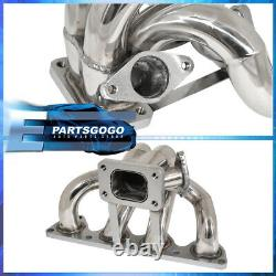For 92-2001 Honda Prelude H22A Bb6 T3/T4 Racing Turbo Manifold Header Exhaust