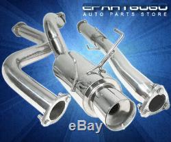For 94-01 Acura Integra Dc2 Gsr 2.5 Catback Exhaust Muffler System S/S 4 Tip