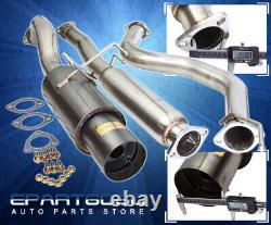For 96-00 Civic Eg Ek 2/4Dr 3 Jdm Gunmetal Hi Power Catback Exhaust System