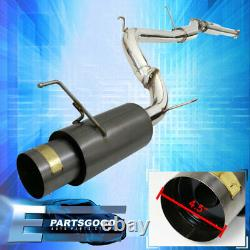 For 98-02 Accord 2.3L 4-Cyl Catback Exhaust System Jdm Style Black Steel Upgrade