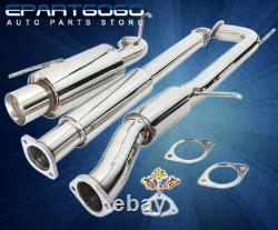 For 98-02 Accord F23 2.3L Stainless Steel 2.5 Catback Exhaust 4 Tip + Silencer