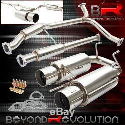 For 98-02 Honda Accord 3.0L V6 Catback Exhaust System Dual Muffler + Silencer