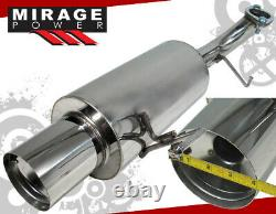 For 98-02 Honda Accord Lx Dx Ex L4 2.3L 4cyl 2.5 3Pc Catback Exhaust System