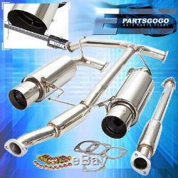 For 98-02 Honda Accord V6 Racing Catback Exhaust System 4.5 Dual Muffler Tip