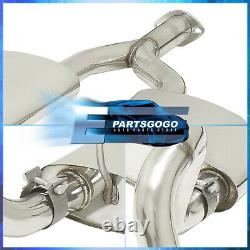 For 98-04 Ford Mustang 3.8L V6 70mm Piping Dual Cat Back Exhaust System 2.2 Tip