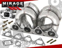 For Civic Integra B16 B18 B-Series Solid Stainless T3T4 Flange Turbo Manifold