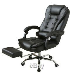 Gaming Chair Racing Ergonomic Recliner Office Computer Desk Chair Swivel Black