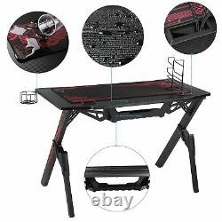 Gaming Desk Computer Table PC Laptop Ergonomic Racing Style Gamer 43 Desk Home