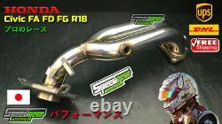 Honda Civic FD1 FG1 FA1 R18A1 1.8L Exhaust Header Extractor Sport Racing 06-11