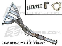 Honda Civic Si 06 07 08 09 00 01 Tsudo stainless FG2 K20 4-2-1 FA5 Racing Header
