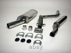 MK1 GOLF CABRIO Stainless Steel Jetex Racing Exhaust System, Mk1 Golf/Sci