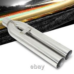 Megan Racing 3 Dual Pipe Straight Cut Universal VIP Blast Exhaust Muffler Tip