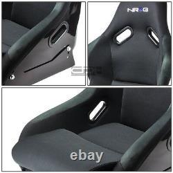 Nrg 300 Fiber Glass Bucket Racing Seat+stainless Steel Adjustable Bracket Mount